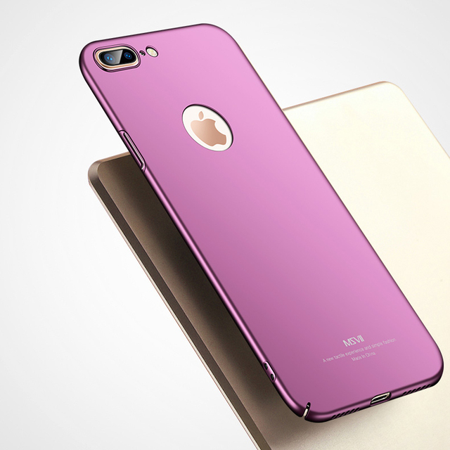 the latest 2668f 42d73 US $6.96 22% OFF|For iPhone 8 8 Plus Case Cover MSVII Luxury Thin Hard PC  360 Full Protection Back Cover Case For Apple iPhone 8 Plus Cases Coque-in  ...