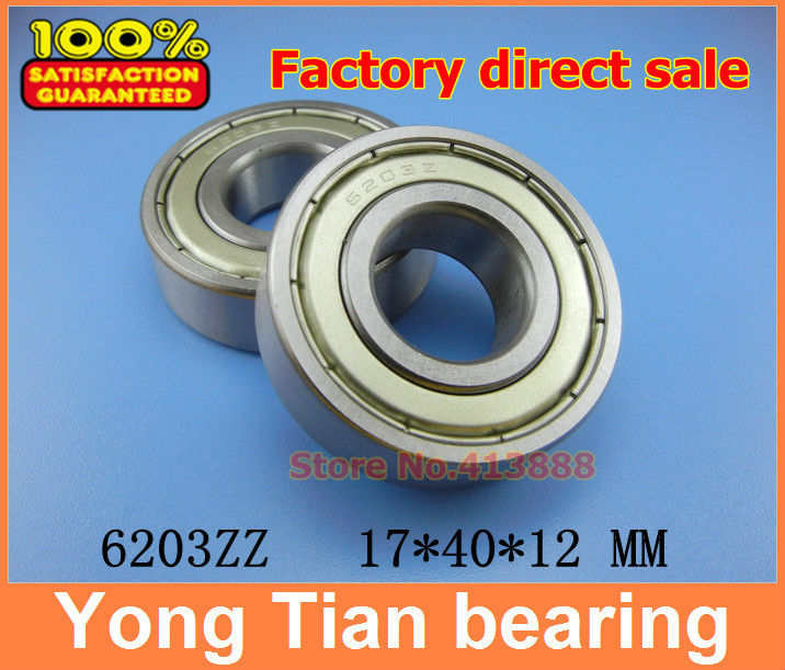 (1pcs) Miniature deep groove ball bearing 6203ZZ 6203-2RS S6203ZZ S6203-2RS 17*40*12 mm image