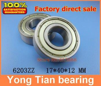 (1 piezas) rodamiento de bolas de ranura profunda en miniatura 6203ZZ 6203-2RS S6203ZZ S6203-2RS 17*40*12mm