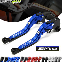 LOGO SV650 For SUZUKI SV 650 SV650/S 1999-2009 Motorcycle Accessories Folding Extendable Brake Clutch Levers 12 Colors