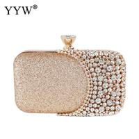 High Quality Rhinestone Jewelry Evening Elegant Purse Clutches Top Handle Handbags Female Sequined Banquet Glitter Clutch Bag