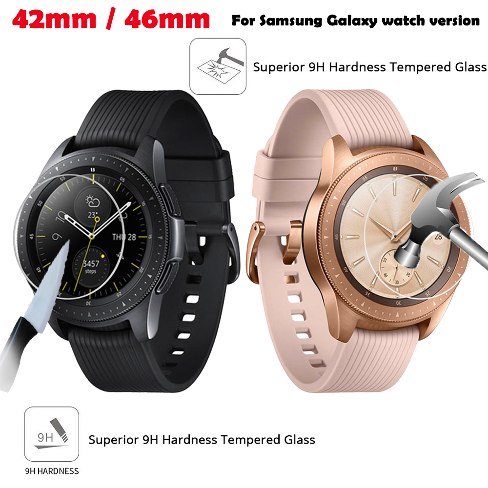 42mm watch Glass screen protection For Samsung Galaxy 42mm/46mm Glass screen protection LTE 2.5D Round Edge Anti-scratch 3pcs