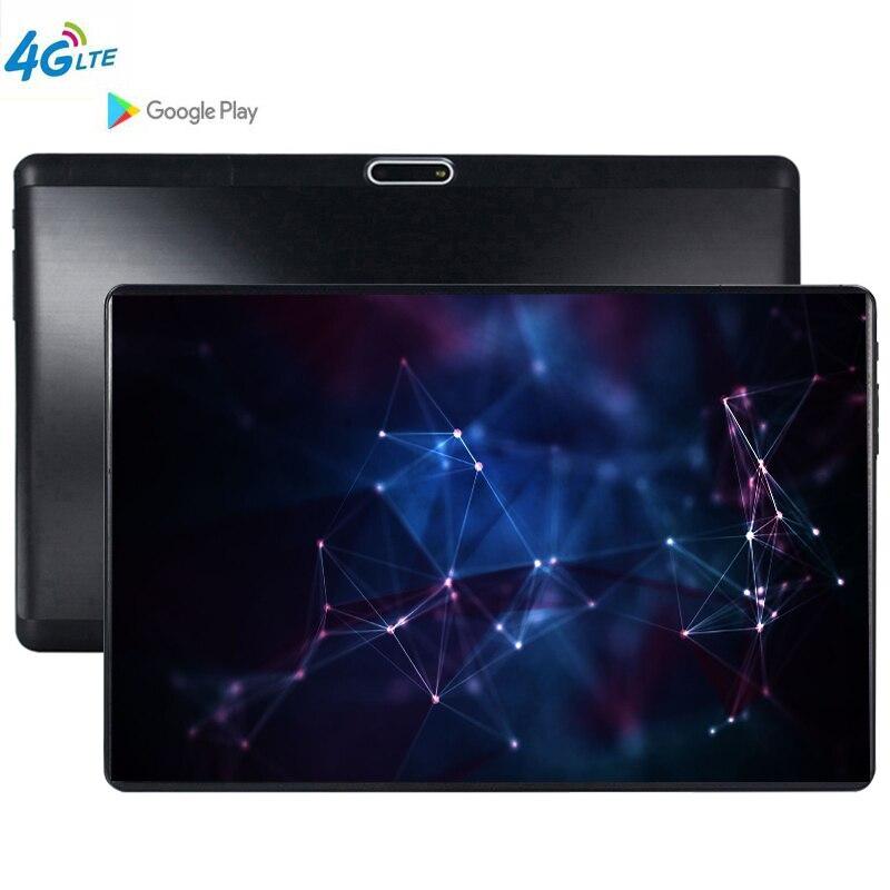 4G LTE 10.1 tablette écran tactile Android 9.0 Octa Core Ram 6 GB ROM 64 GB caméra 5.0 MP SIM tablette PC Wifi 10 pouces tablette pc