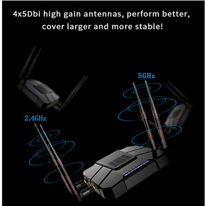 Image 4 - Gigabit openWRT WiFi Router With SIM Card Slot 1200Mbps 2.4G/5GHz 256MB Dual Band 4G LTE 3G Modem Router Wireless Repeater