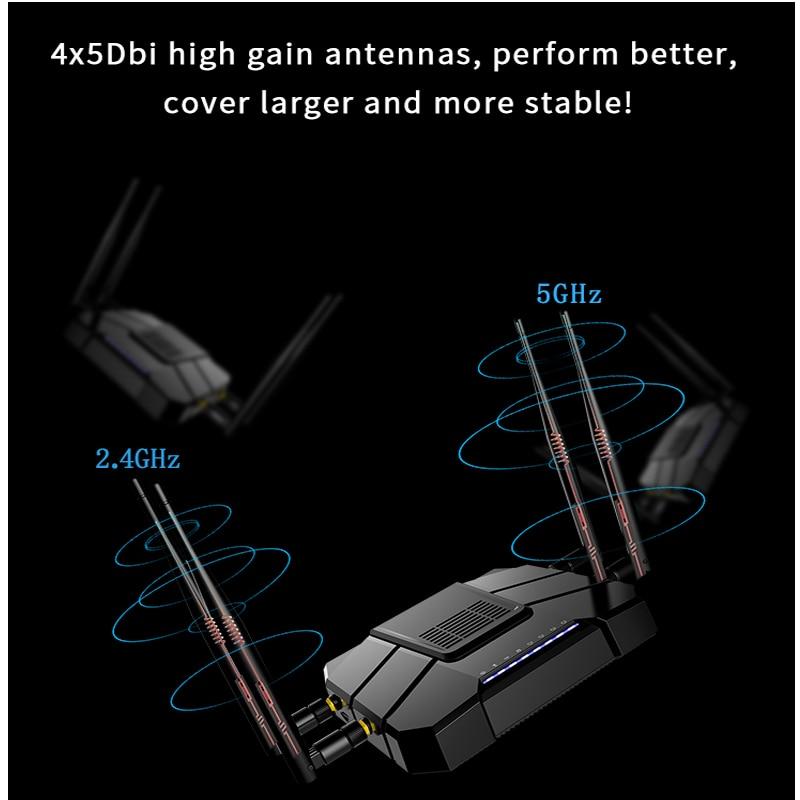 Image 4 - Гигабитный wifi маршрутизатор с ОС OpenWRT с слотом для sim карты 1200 Мбит/с 2,4 г/5 ГГц 512 Мб двухдиапазонный 4G LTE 3g модем маршрутизатор беспроводной ретранслятор-in Беспроводные маршрутизаторы from Компьютер и офис