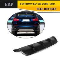 Difusor de coche pintado negro mate FRP para bmw X6 E71 E72 2008 2014 bmw diffuser bmw x6 diffuser diffuser car -