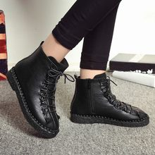 YOUYEDIAN Fashion Women British Martin Boots Vintage platform Boots Student Flat Boots chaussure femme talon bottine#a3(China)