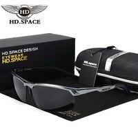HD של גברים אופנה משקפי שמש מקוטבת משקפי ללא מסגרת למחצה סגסוגת אל Mg נהיגה משקפיים חיצוני ספורט Gafas Oculos דה סול LD038