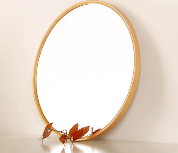 Wall mirror. Solid wood makeup mirror. Bathroom mirror. Circular mirror. mirror mirror