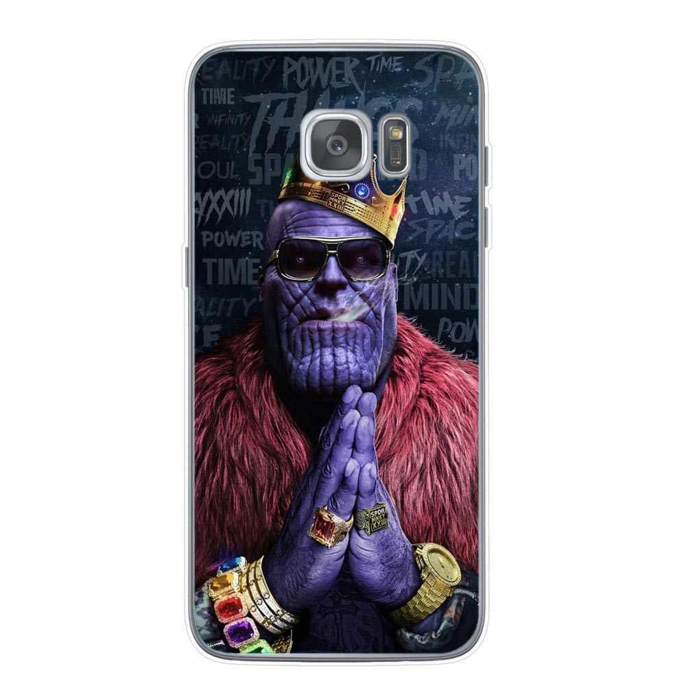 Marvel caso de telefone macio para samsung galaxy s10 s8 s9 plus s10e nota 9 s6 s7edge luxo macio silicone casos homem de ferro capa