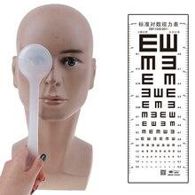1 pcs eye occluder 전문 핸드 헬드 시력 측정 도구 eye occluder 비전 테스트 시력 시험용 블록 플레이트 투명/검정색