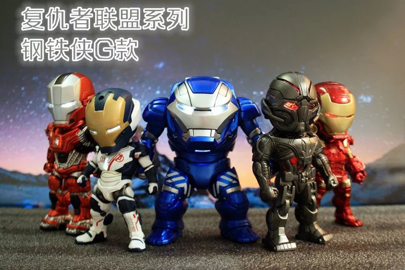 5pcs The avengers Interactive Hulk Iron man action figuras 2016 New Captain America shield Thor hammer figurine car Decoration uncanny avengers volume 5