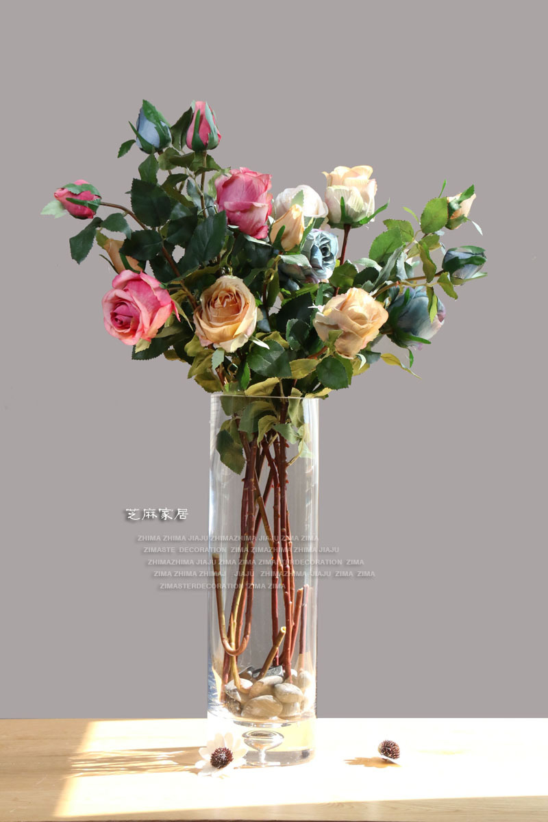 Glass vase flowers image collections vases design picture ceramic club straight glass vase flower vase simulation flowers ceramic club straight glass vase flower vase reviewsmspy