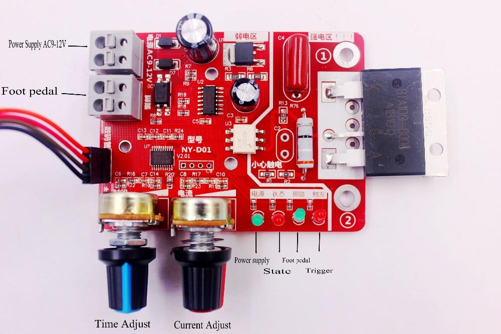 Плата управления точечных сварщиков 100A цифровой дисплей время точечной сварки и ток панель управления Амперметр синхронизации
