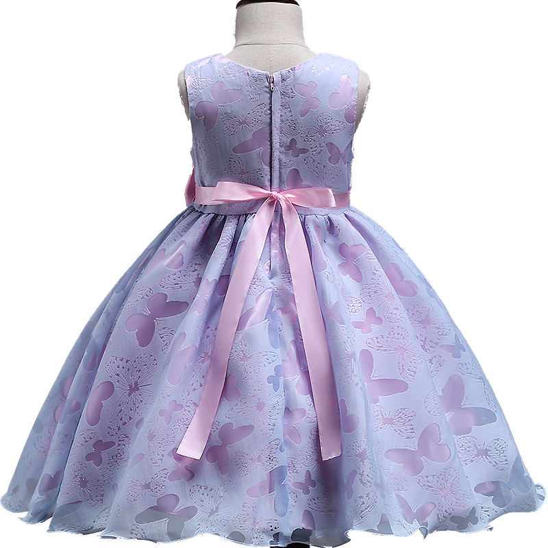 f0ac8a2c563e7 2018 NEW style Summer baby girl butterfly flower girl dress for wedding  girls party dress with bow dress for girls clothi