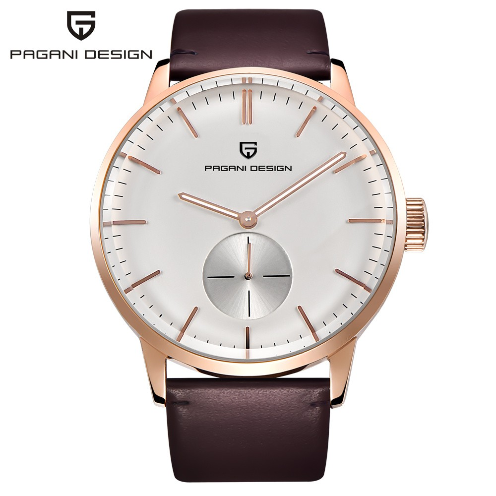 PAGANI DESIGN Simple Quartz Watch Men Top Brand Luxury Leather Strap Waterproof Men's Wristwatch Fashion Clock relogio masculino top luxury crystal brief design lady elegance slim strap leather wristwatch waterproof women quartz watch relogio feminino gift