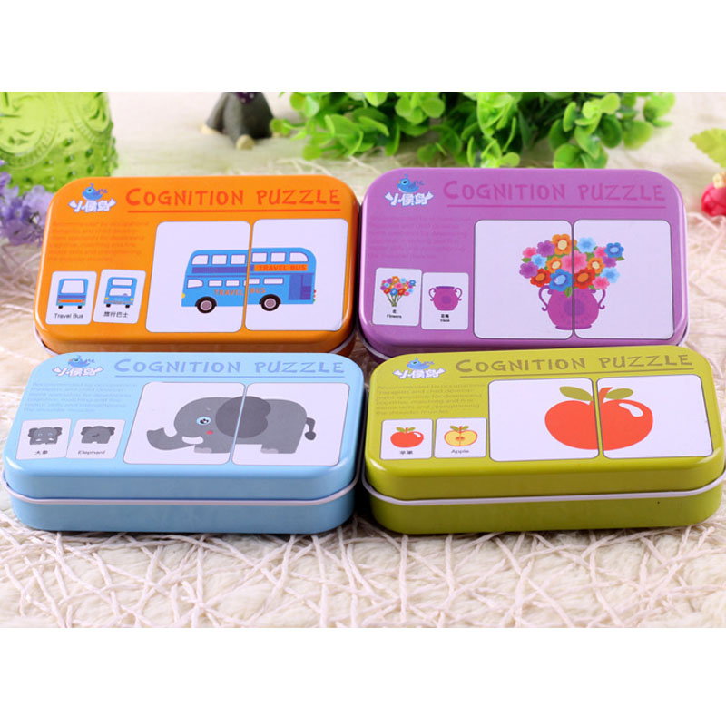 New Baby Kid Wooden Cognitive Learning English Card Vehicl/Fruit/Animal/Life Set Early L ...