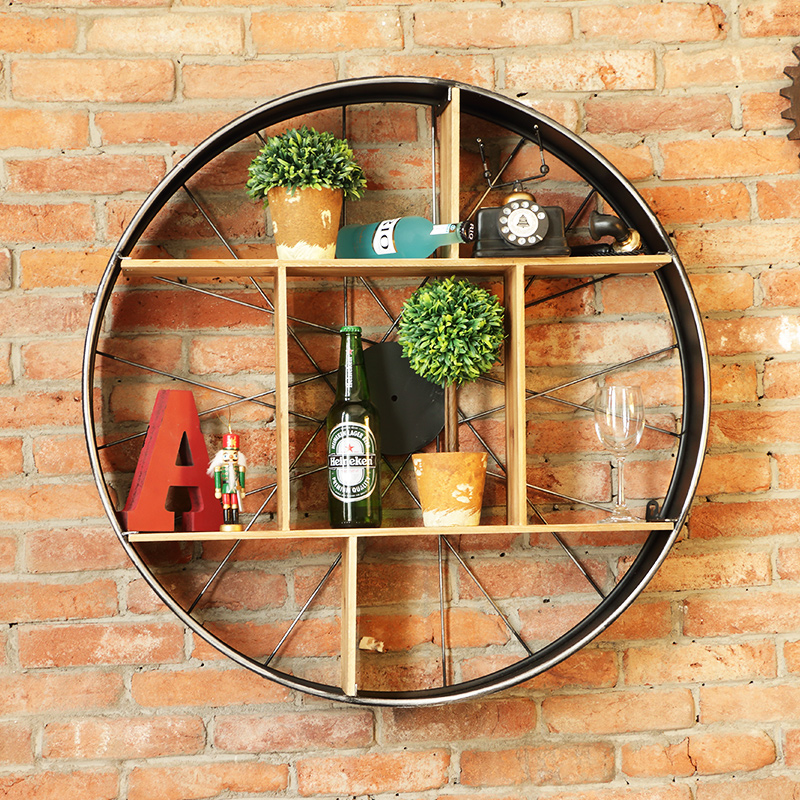 Antique Cream Wood Metal Wall Decor: Aliexpress.com : Buy Industrial Style Wine Holder Wall