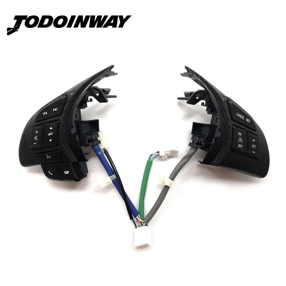 En Fiber De carbone Volant Commutateur Audio Volume Bluetooth Commande de Vitesse De Croisière Commutateur Bouton Pour Mazda 3 Atenza Axela CX5