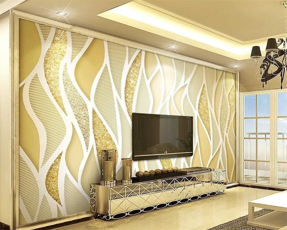 Beibehang Custom wallpaper gold luxury gold powder flash line 3d living room room TV background wall wallpaper for walls 3 d beibehang four color stitching 3d wallpaper 3d lattice mosaic backdrop wallpaper bedroom living room wallpaper for walls 3 d