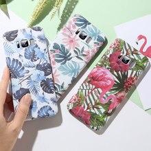 KISSCASE için renkli tropikal yapraklar telefon kılıfı için Huawei Mate 20 Lite P akıllı P20 Pro Slim PC kapak için Huawei onur 8X Fundas