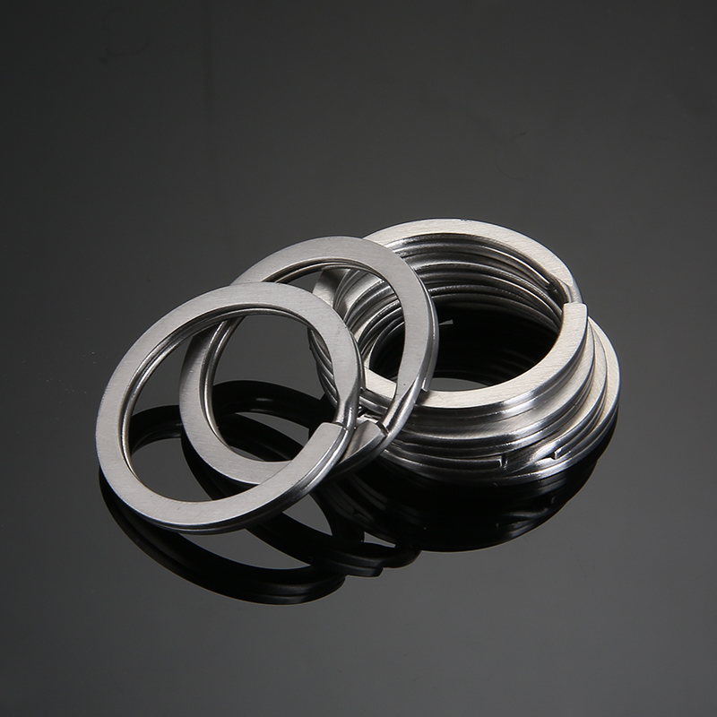 Aiovlo 20pcs/lot Stainless Steel Make Keychain Key Ring Flat Key Holder Split Rings Keyfob Accessories For DIY Jewelry Making