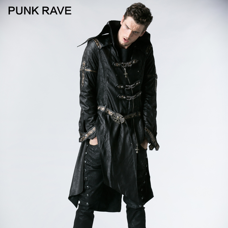 PUNK RAVE Unique Fashionable Punk Rock Heavy PU Leather