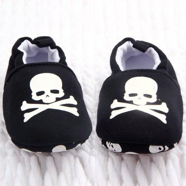 Impreso Unisex Pirata Rojonegro Ocasional Zapatos Bebé Del Cráneo Suave Niño Inferior YqHYT