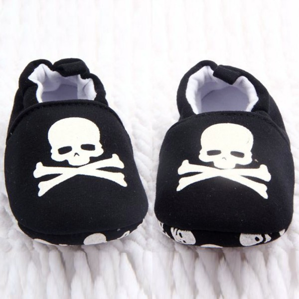 Unisex Inferior Impreso Niño Zapatos Del Bebé Suave Ocasional Cráneo Pirata Rojonegro wncwrpRq7
