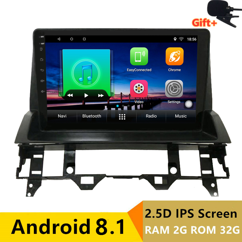 "9"" 2+32G 2.5D IPS Android 8.1 Car DVD Multimedia Player GPS for Mazda 6 2002-2006 2007 2008 2009 audio radio stereo navigation"