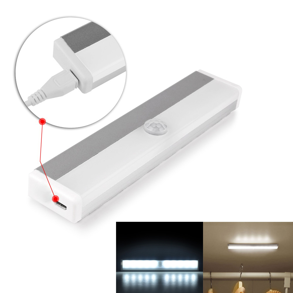 Rechargeable LED Lamp With Frared IR Motion Sensor Magnetic Night Light Auto Battery Power For Pathway/ Staircase/ Wall Fridge