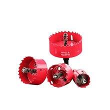 Sierras de copa bimetal M42, perforador de agujeros, sierra de madera, juego de dientes, brocas de núcleo, 90MM, 125MM, 100MM, 20-110MM, 1 unidad