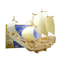 Scale Goteborg Ship Model Wood Educational Toys Sailing Boat 3D Puzzle Assembling Miniature DIY