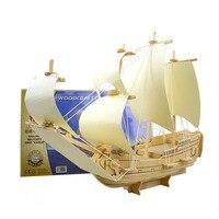 Scale Goteborg Ship Model Wood Educational Toys Sailing Boat 3D Puzzle Assembling Miniature DIY