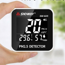 Rechargeable Digital Air Quality Monitor Laser PM2.5 Detector tester Gas monitor Diagnostic tool