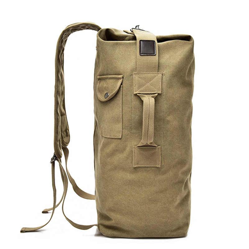 Mochilas de lona militar masculino multi-purpose balde bolsa de viagem sacos de ombro grande exército turista dobrável saco de mão xa1934c