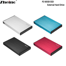 Zheino P2 60GB USB3.0 External Aluminum Case Super Speed with 2.5 SATA Solid State Drive Replacement Of External Hard Drive Disk