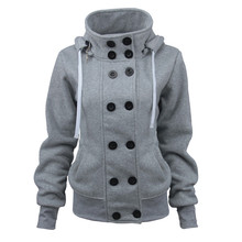 OMONSIM Plus Size 4Colors Cotton-padded Clothes Hooded Wool Blended S-XL Double Breasted Detachable Winter Coat Hot Selling 5353