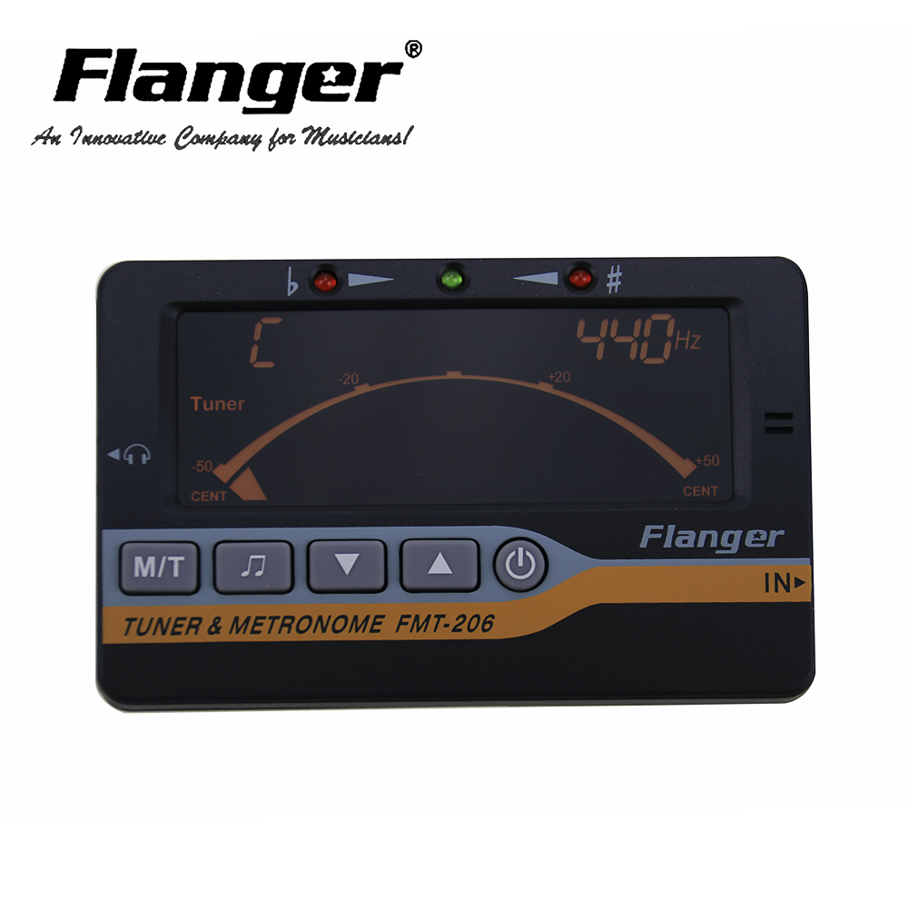 New Arrival Flanger 3 In 1 LCD Display Metronome Tone Guitar Generator Tuner FMT-206 fmt 60 2 0 lcd digital 3 in 1 metronome tuner tone generator black 2 x aaa