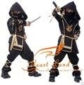 110-140cm Children boy Martial Ninja Halloween Cosplay Warrior Stage Suit Kids Swordsman Costume