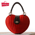 BVLRIGA Rattan women bag women tote beach handbags female small top-handle bags fashion high quality famous brand women handbags