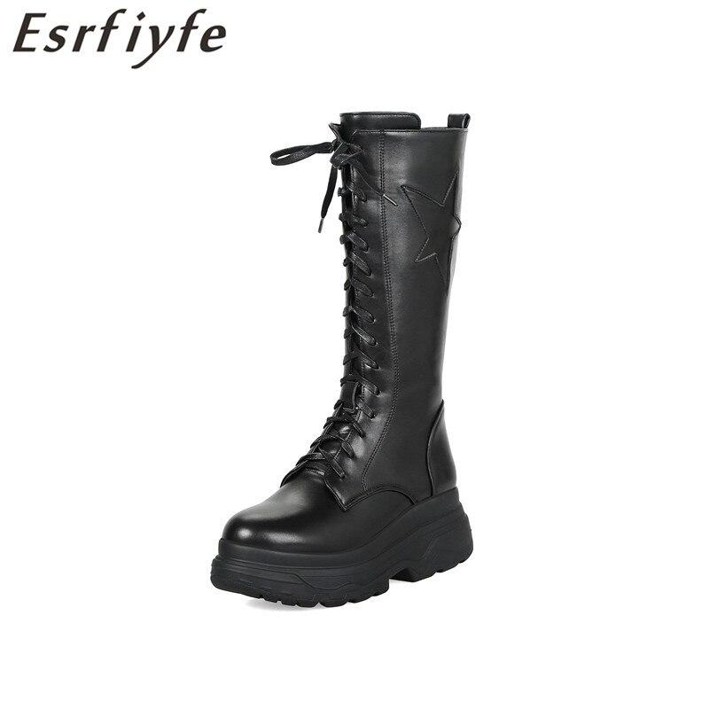 Côté Rond Esrfiyfe Nouvelle Chaussures Mi Femme Noir mollet Européen Femmes Bout Hiver Style Zip Chaud Marque Bottes OkXiuPZ