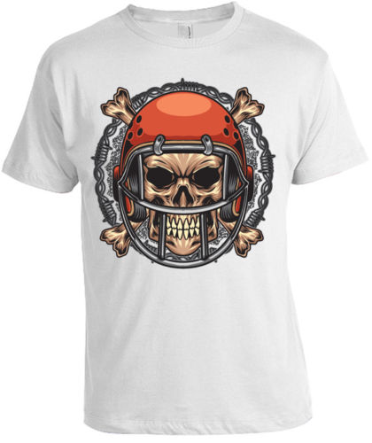 FOOTBALL Crane T-shirt pour hommes femmes AMERICAIN USA tete de mort