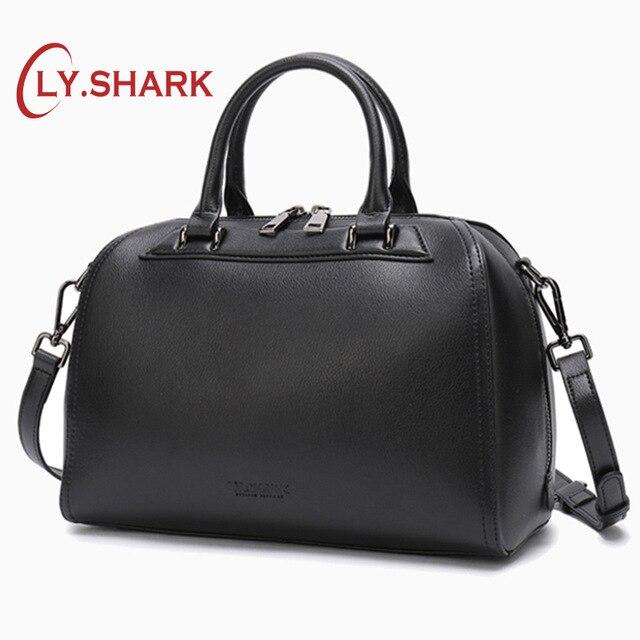 LY. SHARK frauen Aus Echtem Leder Handtasche Umhängetaschen Für Frauen Handtaschen Damen Taschen Für Frauen 2019 Weibliche Schulter Tasche-in Schultertaschen aus Gepäck & Taschen bei  Gruppe 1