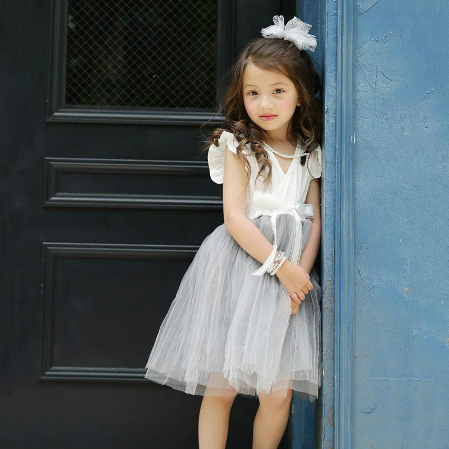 Summer 2016 Baby Girls Clothes Infant Child Party Wedding Dress Lace Bow Children's Princess Tutu Dresses Kids Girls Clothes 2016 summer baby clothes kids girls tutu princess dress children girls show white lace party bow dresses for girls wedding