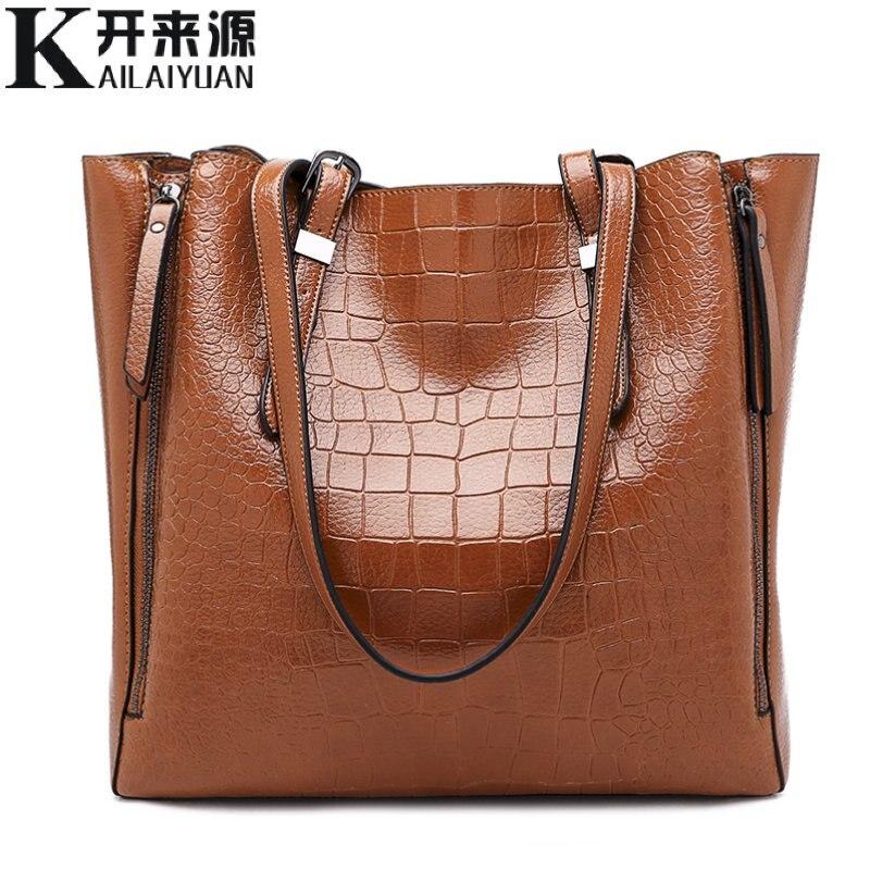 3b64a948a481 SNBS 100% натуральная кожа женские сумки 2018 Новая мода одно плечо  переносная женская большая сумка