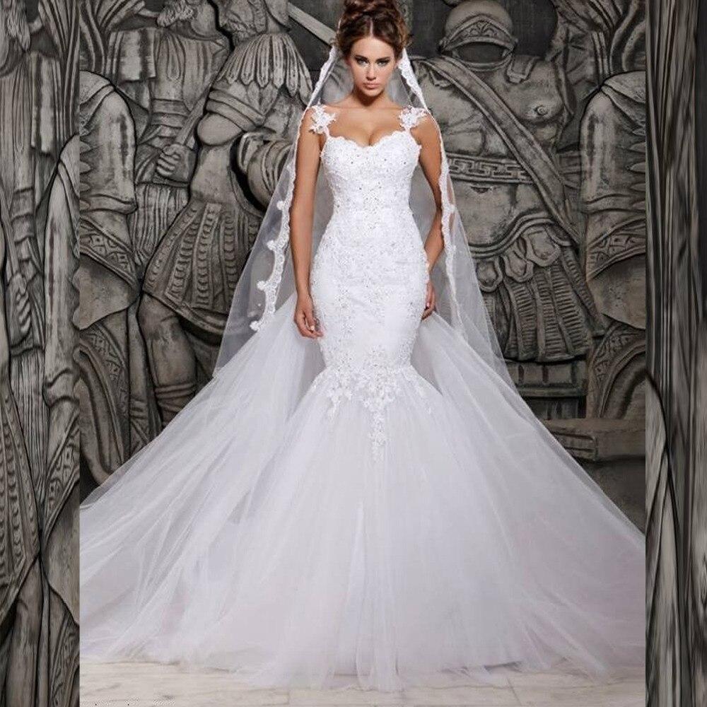 Vestido De Novia Mermaid White Lace Wedding Dress Sexy