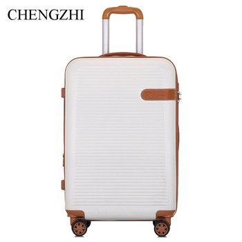"""CHENGZHI NEW Expand Layer 20""""24""""28""""Inch Rolling Luggage Brand Spinner Trolley Suitcase Travel Bag On Wheels"""