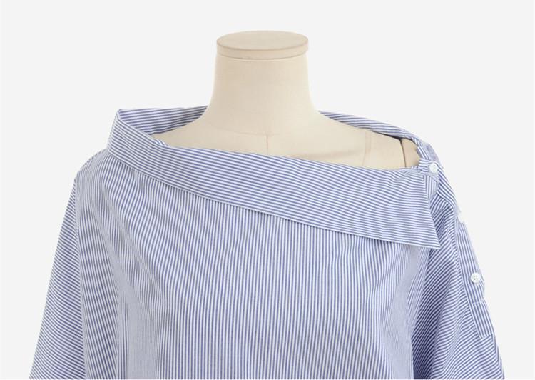 HTB1vxA PXXXXXakXFXXq6xXFXXXf - Autumn Women's Striped Sexy Oblique Strapless Loose Long-sleeved