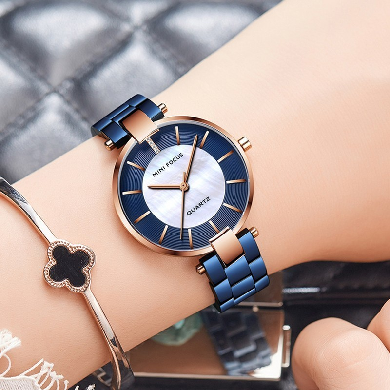 MINIFOCUS Fashion Designer Brand Luxury Women Wach Woman Lady Gold Quartz Watch Women Wrist Watch Casual Dress Women's Watches